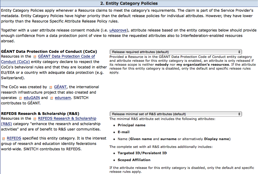 Resource Registry Entity Category Section