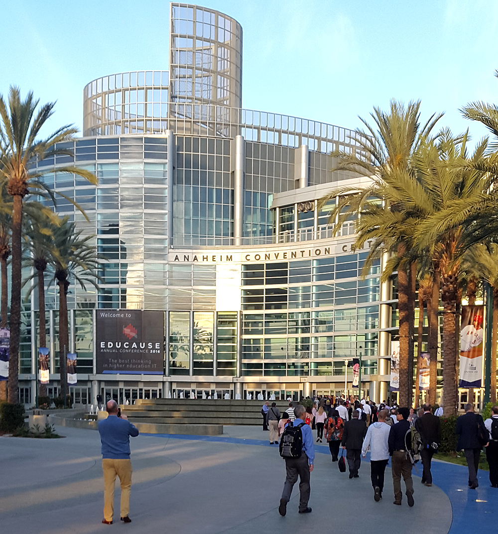 The Anaheim Convention Center, where the EDUCAUSE Annual Conference was held.